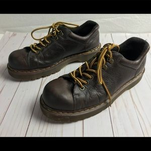 Dr. Martens brown leather Oxfords